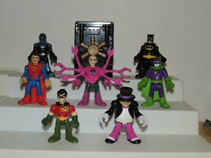 DC Comics Imaginext Figures Lot Batman Joker Blue Beetle Superman Penguin More!