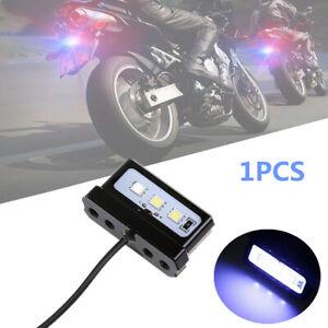 1PCS Motorcycle Modified CNC Aluminum Alloy Mini LED License Plate Light White