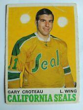 1970-71 OPC O-Pee-Chee #189 Gary Croteau California Golden Seals - VG