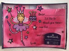 Hallmark Thank You Cards Princess Pink Box 10 & Envelopes