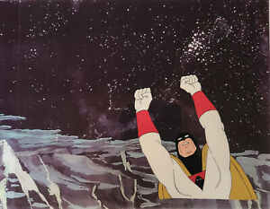 Space Ghost Original Production Cel w/Matching Drawing