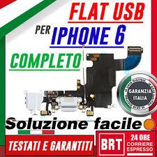 """FLAT FLEX DOCK MODULO RICARICA USB PER IPHONE 6 6G 4,7"""" PORTA CONNETTORE 24H!!!"""