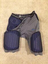 Nike Pro Combat Attack Comp Vis Basketball Padded Shorts 369261-067 Blue Grey Xl