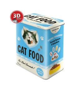 30143 Caja metálica L cat food nostalgic art coolvintage