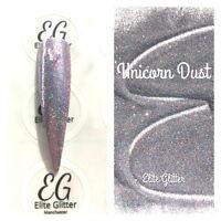 Nail Art Glitter Platinum Pink Unicorn Dust Holographic Ultra Fine 004