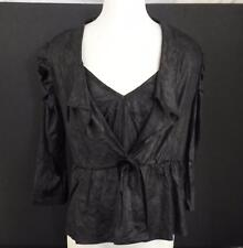 NWT Pretty Angel Womens Bolero Jacket Matching Camisole Set Purple Black L W3