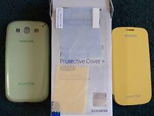 Samsung Galaxy S3 LOT Green Hard Shell Case Yellow Flip Case SCREEN PROTECTOR