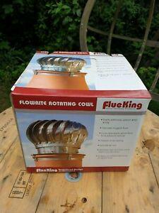 FlueKing Flowrite Rotating Cowl/Spinning Bird Guard Stainless Steel