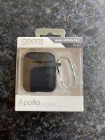 Gear4 Silicone Apollo Case For Apple AirPods 1st/2nd Gen - Black- BNIB