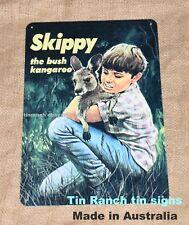 SKIPPY the BUSH KANGAROO wall art/TIN SIGN vintage Australian RETRO metal 60s tv