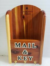 Lincoln Silver & Montana Wooden Mail Letter Key Organizer Holder Wall Mount
