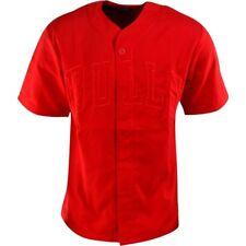adidas - Chicago Bulls Baseball Jersey NBA Men's (XL) Red M66336