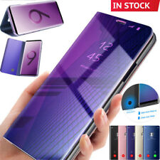 Mirror Smart Flip Stand Case Cover Samsung Galaxy Note 9 S10 Plus S8 Plus S9 A20