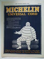 1920 Michelin tire company Universal cord Michelin Man vintage original ad