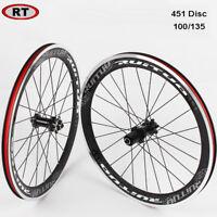 Bike Wheelset Folding Bcycle 451 Wheel Disc Brake Bearing Rim Straight Pull Hub