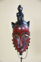BB7 Guro Baule Maske alt Afrika / Masque Gouro ancien / Old tribal mask Africa
