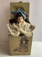Vintage 1985 Enesco Music Box DOLLY Jack-In-The-Box 1st In The Attic Series