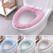 Coral Bathroom Toile Soft Washable Toilet Seat Cover Mat Set Household Tool