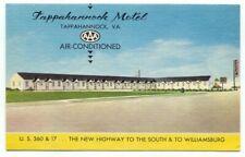 Tappahannock Motel VA U.S.360 & 17 Linen Postcard ~ Virginia