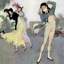 QUATRE CHANSONS DU BON VIEUX TEMPS Aquarelles d'Edmond DULAC L'ILLUSTRATION 1913