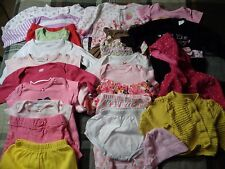 Lot of 25 pieces, girls 3-6 months clothing outfits.