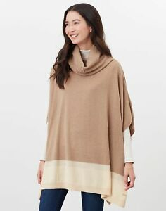Joules Womens Kari Knitted Poncho - Sand - One Size