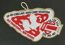 """SR-8B CONCLAVE 2000 CAMP SEQUOYAH OLD TRADITIONS NEW VISIONS  BSA PATCH  6"""""""