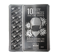 10 oz Envela 0.999 Silver Bar - CV Essential Workers Stamp - May Edition