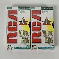 Lot of 2 Recordable VHS Video Blank Tapes T120H RCA New Sealed