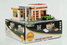 1:64 Shell Tankstelle Gas Station Vintage Diorama Greenlight no car