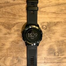 Garmin Fenix 5x Sapphire Gps Watch Mapping Wrist Hr -slate Gray With Black Band