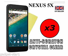 3x HQ CRYSTAL CLEAR SCREEN PROTECTOR COVER FILM SAVER GUARD GOOGLE LG NEXUS 5X