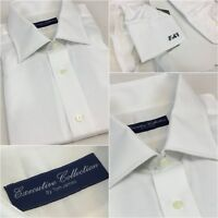 Tom James Executive Collection Shirt 17.5 34 White All Cotton NWT YGI D8-213BL