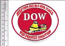 Beer Snowmobile Dow Brewery ''Keep this Ale in a Cool Place'' 1960 Promo Patch