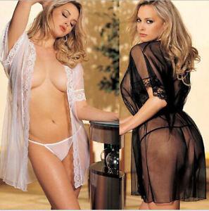 Plus Size Womens Sexy Lingerie Babydoll Lace Dress+Underwear Sleepwear Set Black