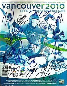 2010 OLYMPIC GOLD TEAM CANADA SIGNED PROGRAM PSA/DNA LOA Crosby Brodeur Fleury +