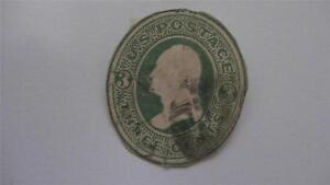 Washington Cream Paper Envelope Used USA 3 Cent Stamp