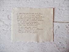 ✒ P.A. Elzéar de SABRAN écrivain et poète - Poème manuscrit 2 - Kaleïdoscope