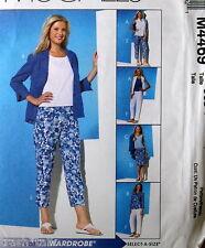 EASY wardrobe pattern sz 10 12 16 tank capris cardigan misses