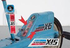 VINTAGE MATTEL VRROOM X-15 PEDAL DECALS ONLY