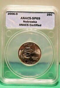 2006 D ANACS Statehood Quarter 25 Cent Nebraska