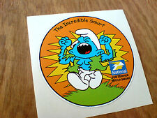 THE INCREDIBLE SMURF Classic Car Motorcycle Retro Sticker Decal 1 off 90mm
