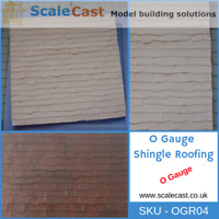 O gauge Model Railway Shingle ROOF Mould 7mm Scale - OGR04 - NEW RELEASE