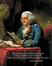 New 8x10 Photo: Founding Father Benjamin Franklin with Famous Quote