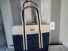 tommy hilfiger tote navy blue cream   WHITE TOTE,BAG,PURSE canvas