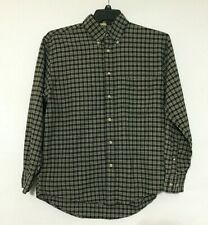 Natural Issue Size M Mens Black Plaid Button Down Long Sleeve Shirt