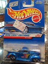 Hot Wheels '40 Ford 1998 First Edition Blue