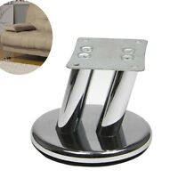 4pcs Set 4'' High Taper Sofa Legs Chrome Plated Steel Furniture Cabinet Feet