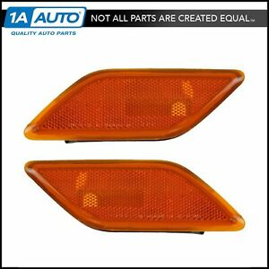 Front Side Marker Lights LH & RH Pair Set for Mercedes Benz E350 E550 E63 AMG