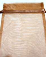 Cisco Traders Brown Organza Drawstring Pouch 9x8in QTY1 Jewelry Gift Bag